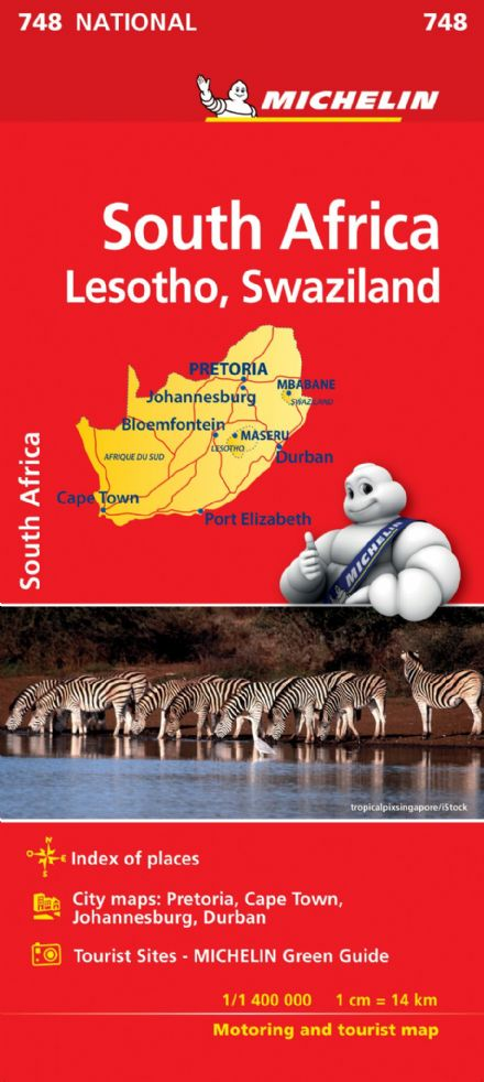 South Africa Including Lesotho & Swaziland - Michelin National Map 748